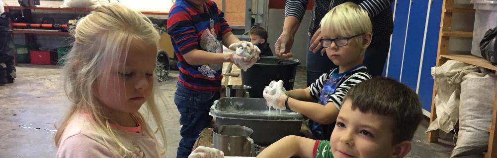 Børn filter bolde med fåreuld