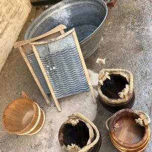 Foto af gammelt vaskebræt